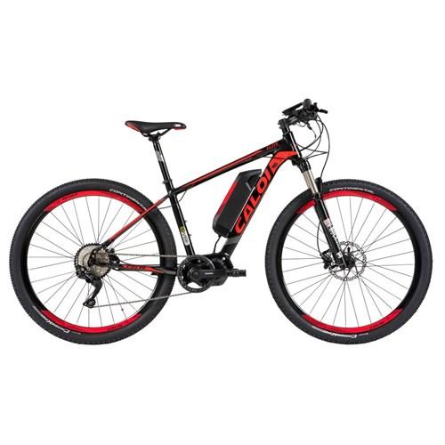 Bicicleta Elétrica E-Vibe Elite Preta e Vemelha Caloi
