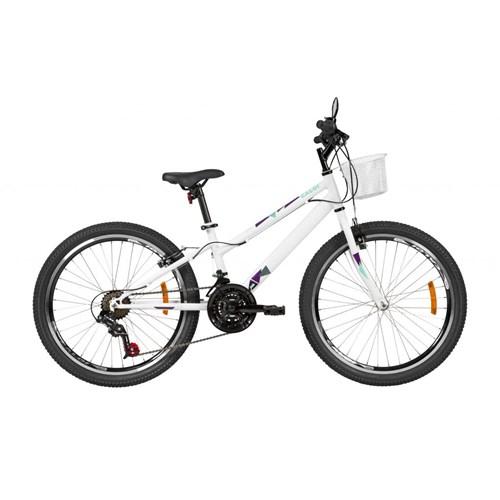 Bicicleta Infantil Ceci aro 24 21v Branca ano 2021 Caloi