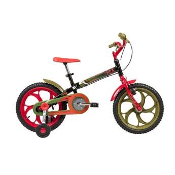Bicicleta Infantil Power Rex aro 16 Preta Caloi
