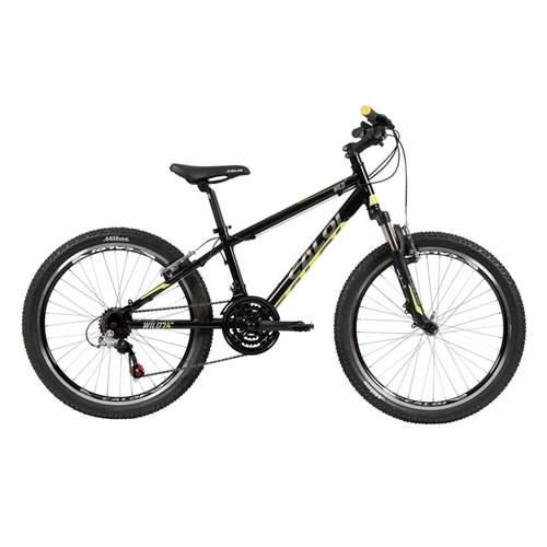 Bicicleta Infantil Wild 21v Aro 24 Preto/Amarelo Caloi