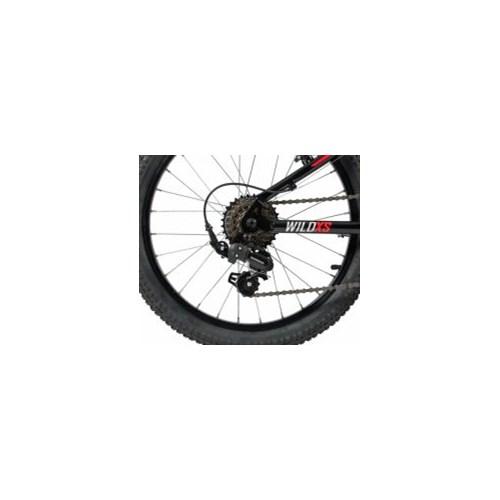 Bicicleta Infantil Wild XS 7v Aro 20 Preto/Vemelho A19 Caloi