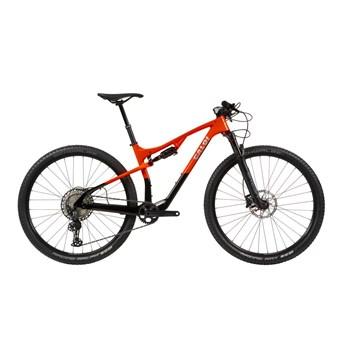 Bicicleta MTB Elite Carbon FS Shimano SLX 12v Preta e Vermelha Ano 2021 Caloi