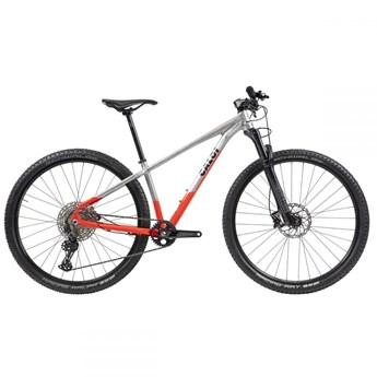 Bicicleta MTB Elite Shimano Deore 12v Prata/Vermelha ano 2021 Caloi