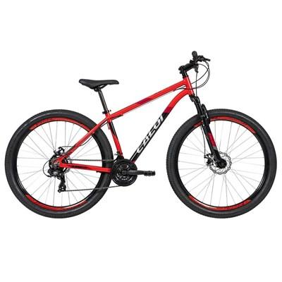 Bicicleta MTB Supra Shimano Tourney 21 Velocidades - Vermelha Caloi