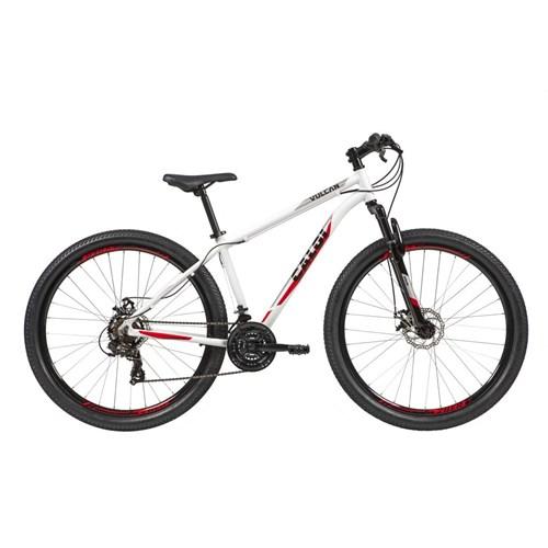 Bicicleta MTB Vulcan Shimano Tourney 21v Branca Ano 2021 Caloi