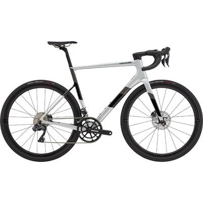 Bicicleta Speed Cannondale Supersix Evo Carbon Shimano Ultegra DI2 Disc 22v Cinza Ano 2021 Cannondale