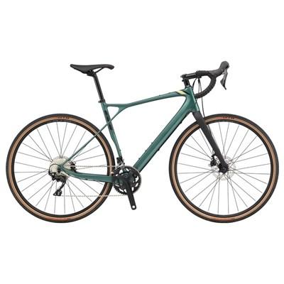 Bicicleta Speed Grade Carbon Expert Shimano 105 22v Verde ano 2020 GT