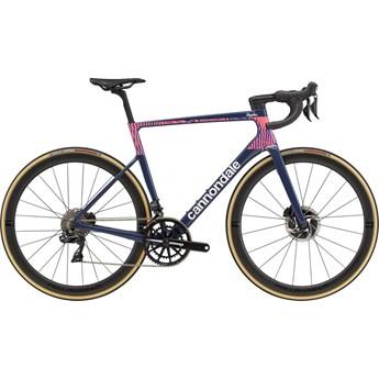 Bicicleta Speed Supersix Evo Hi-Mod Carbon Shimano Dura-Ace DI2 Disc 22v Azul Rapha Ano 2021 Cannondale