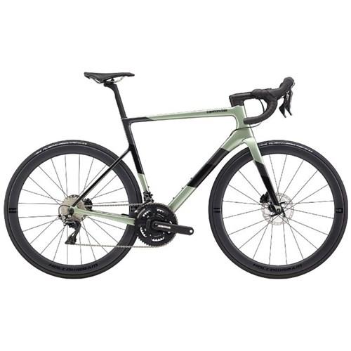 Bicicleta Speed Supersix EVO Hi-Mod Shimano Dura Ace Disc 22v Verde ano 2020 Cannondale