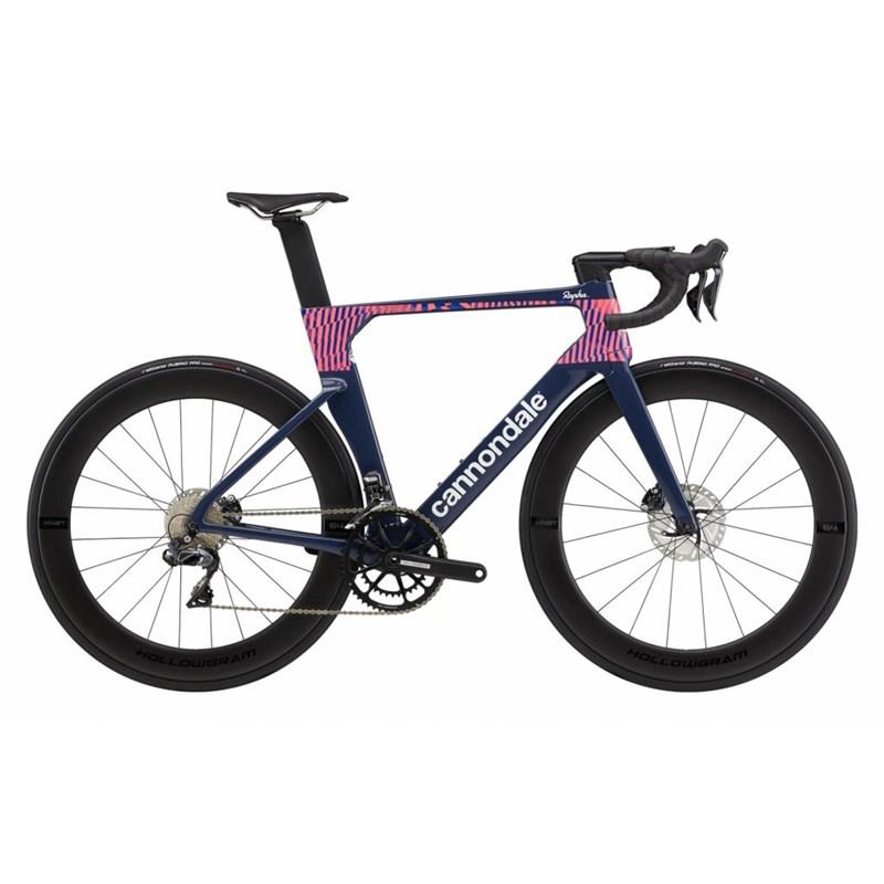 Bicicleta SystemSix Carbon Hi-Mod Rapha Ultegra Di2 22v Azul Ano 2021 Cannondale