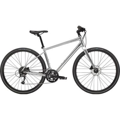 Bicicleta Urbana Cannondale Quick Disc 3 Shimano Altus/Acera 18v Cinza ano 2021 Cannondale
