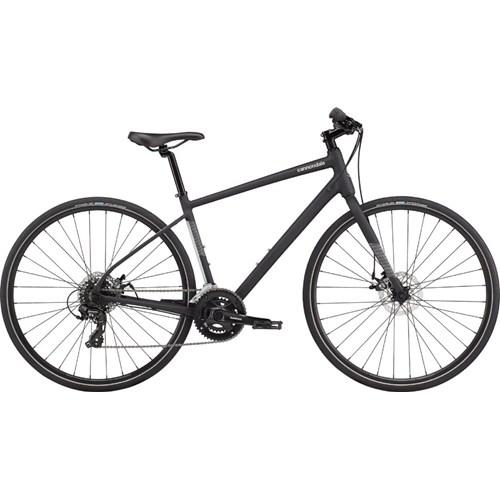 Bicicleta Urbana Cannondale Quick Disc 5 Shimano Tourney 16v Preta ano 2021 Cannondale