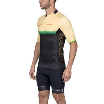 Camisa Ciclismo Masculina Supreme Brasil Amarela
