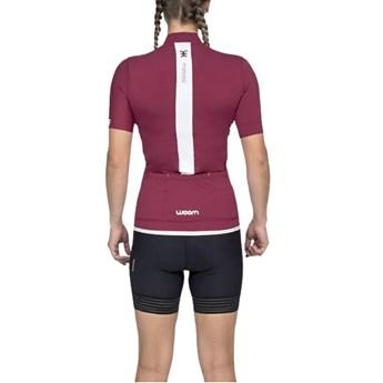 Camisa Ciclismo Squadra 2020 Marsala Manga Curta Feminina Woom