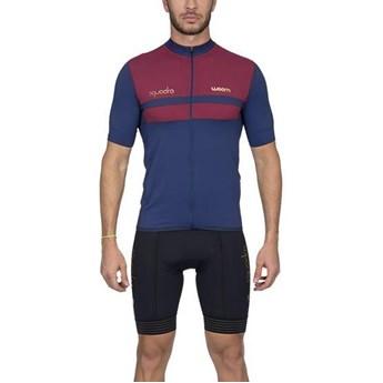 Camisa Ciclismo Squadra 2020 Roma Vermelha Manga Curta Masculina Woom