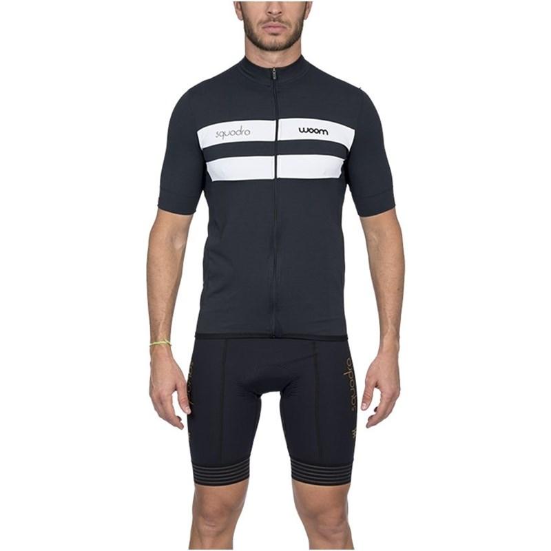 Camisa Ciclismo Squadra 2020 Treviso Preta Manga Curta Masculina Woom