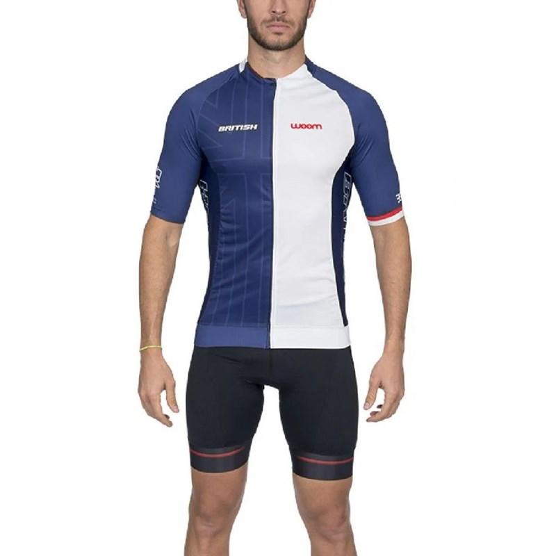 Camisa Ciclismo Supreme 2020 British Manga Curta Masculina Woom