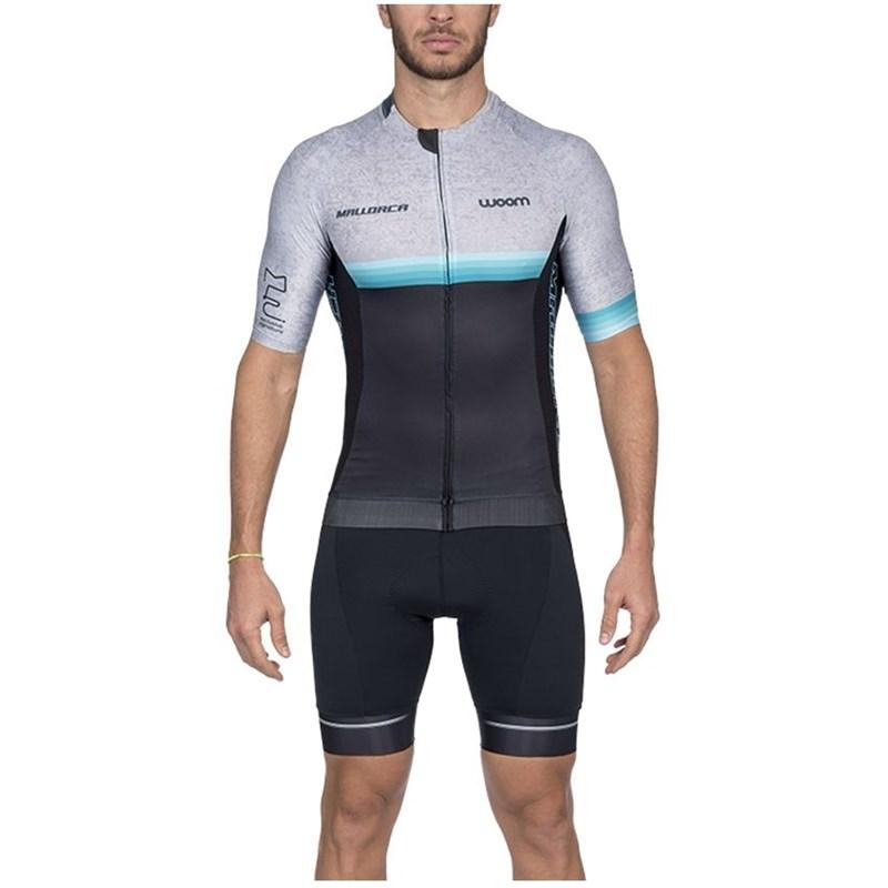 Camisa Ciclismo Supreme 2020 Mallorca Mescla Manga Curta Masculina Woom