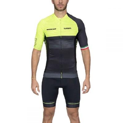 Camisa Ciclismo Supreme 2020 Modena Verde Manga Curta Masculina Woom