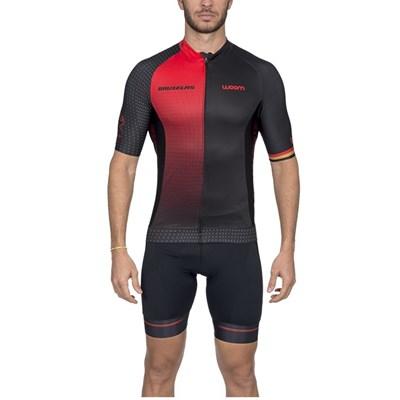 Camisa Ciclismo Supreme Bruxelas Vermelha Manga Curta Masculina Woom