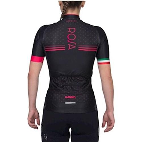 Camisa Ciclismo Supreme Rosa Manga Curta Feminina Woom