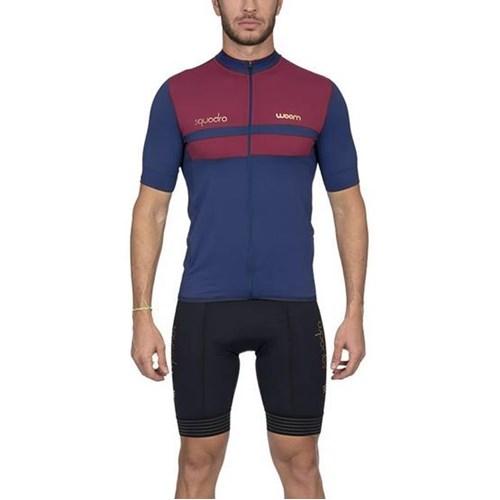 Camisa Ciclismo Woom Squadra 2020 Roma Vermelha Manga Curta Masculina Woom