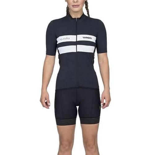 Camisa Ciclismo Woom Squadra 2020 Verona Preta Manga Curta Feminina Woom