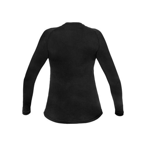 Camisa Segunda Pele Manga Longa Thermo Sense Feminina Preta Curtlo