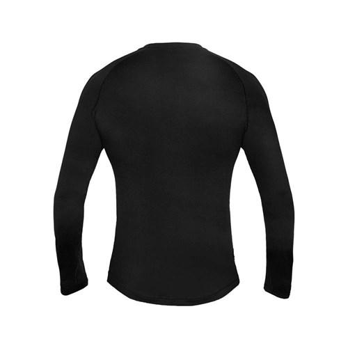 Camisa Segunda Pele Manga Longa Thermo Sense Masculina Preta Curtlo