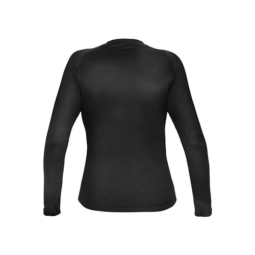 Camisa Segunda Pele Manga Longa Thermo Skin Feminina Preta Curtlo