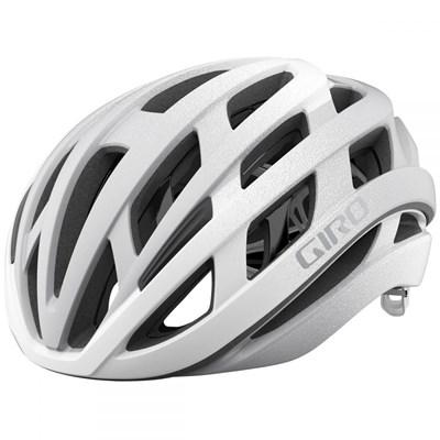 Capacete de Ciclismo Helios Spherical Branco e Prata Giro
