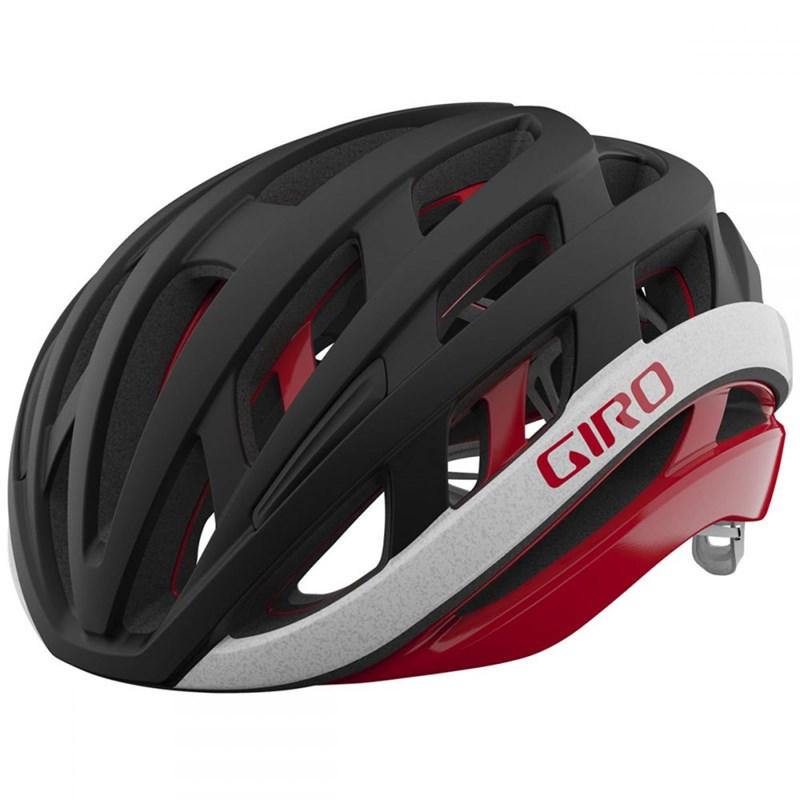 Capacete de Ciclismo Helios Spherical Preto e Vermelho Giro