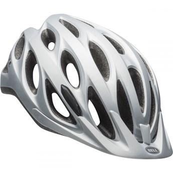 Capacete de Ciclismo Tracker Prata Fosco