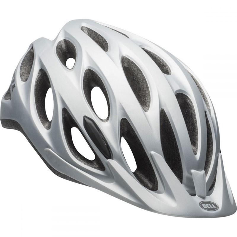 Capacete de Ciclismo Tracker Prata Fosco Bell