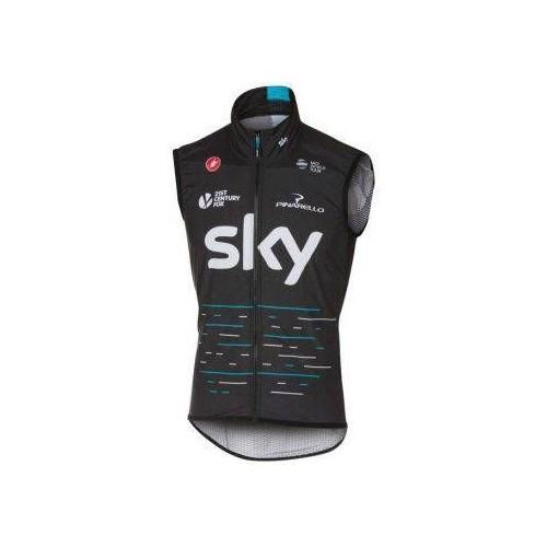 Colete Corta Vento Team Sky Preto Castelli