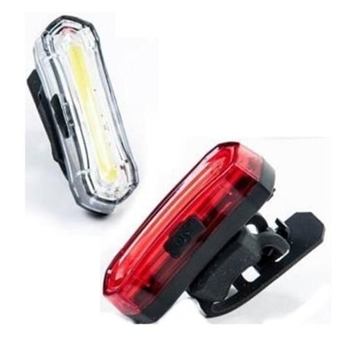 Combo iluminação dianteira e traseira recarregavel USB JY-6055F Absolute