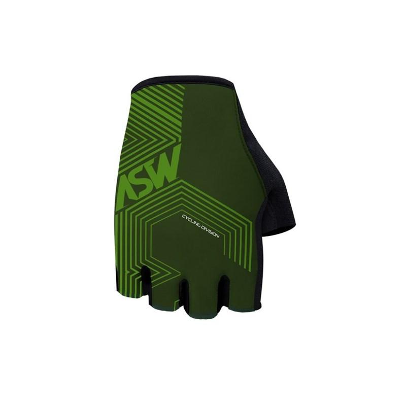 Luva Ciclismo Dedo Curto Flex Polygon Verde ASW
