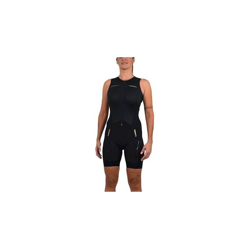Macaquinho Ciclismo Triathlon Feminino 140 Carbon Woom