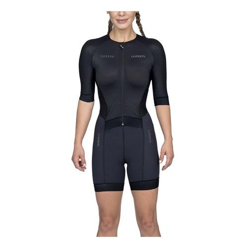 Macaquinho Triathlon com manga Carbon Black Feminino - 2020