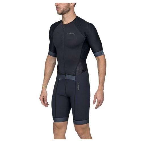 Macaquinho Triathlon com manga Carbon Black Masculino - 2020 Woom