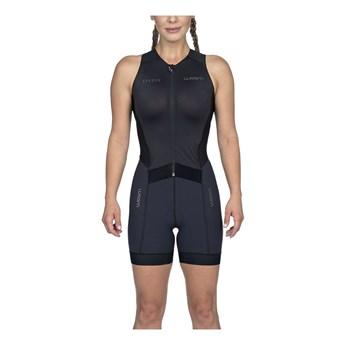 Macaquinho Triathlon sem manga Carbon Black Feminino - 2020