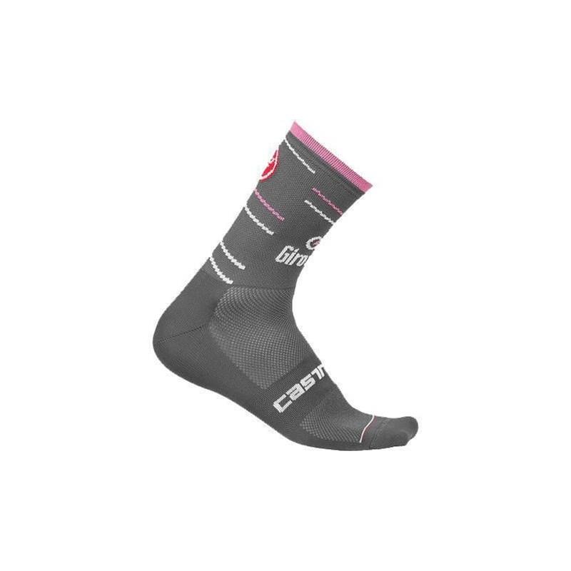 Meia Giro Italia Cinza/Rosa Castelli