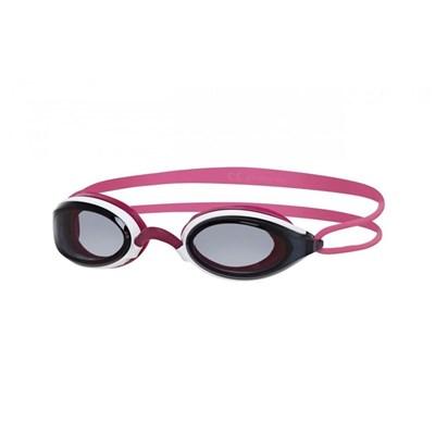 Oculos de Natação Fusion Air Feminino Branco/Rosa lente Fume Zoggs