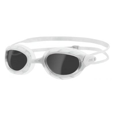 Oculos de Natação Predator Branco lente Fume Zoggs