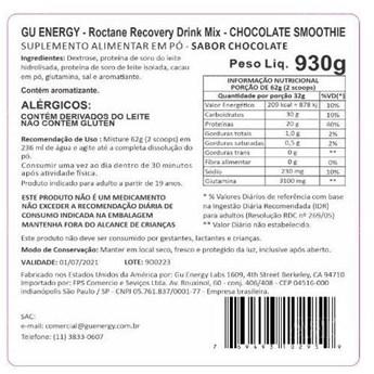 Suplemento GU ROCTANE Protein Recovery Drink Chocolate Smoothie 930g
